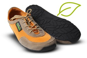 Tadeevo Bliss vegan orange minimalist shoes