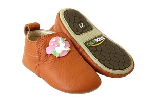 Tadeevo toddler minimalist orange shoes