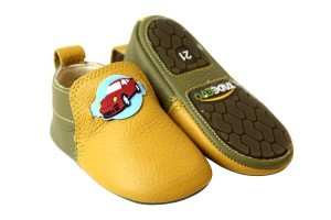 Tadeevo toddler minimalist yellow-green shoes