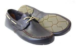 Tadeevo dark brown minimalist boat shoes