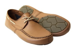 Tadeevo sandy brown minimalist boat shoes
