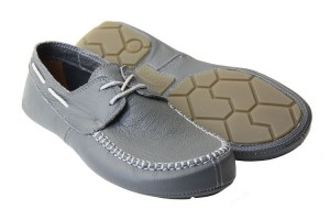 Tadeevo dim grey minimalist boat shoes