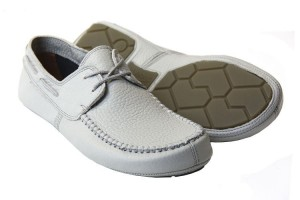 Tadeevo light grey minimalist boat shoes