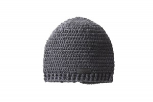 Knitted black hat - 100% wool