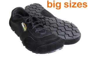 Tadeevo black big size minimalist shoes